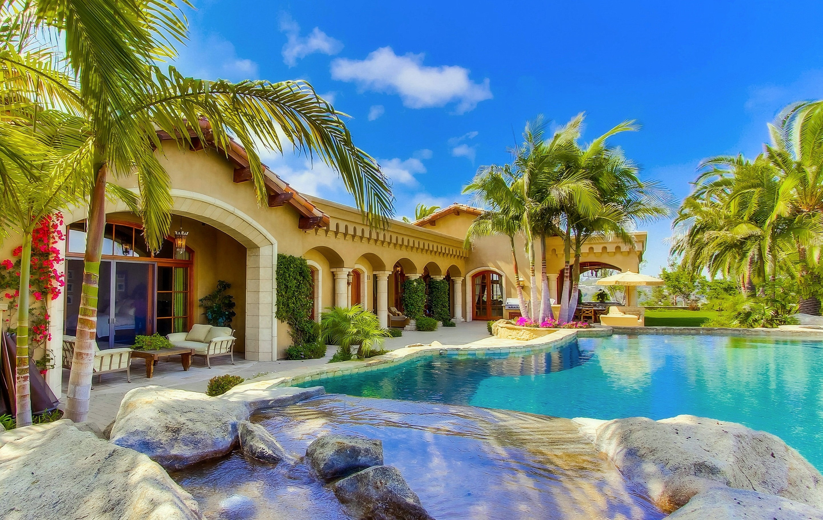 Houses Summer Villa Houses Beautiful Pools Photography